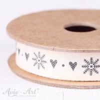 Webband snowflake heart - schwarz