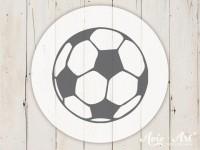 kleiner Motivstempel mit Fußball - Fußballmotiv