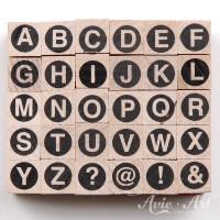 kleine Holzstempel Alphabet #2 - Großbuchstaben