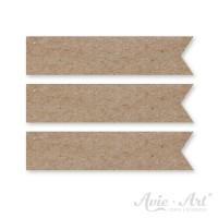 Papierfähnchen aus Naturpapier - 15 x 65 mm