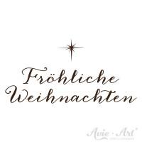 """Motivstempel Kalligraphie """"Fröhliche Weihnachten"""""""