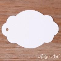 Papieranhänger oval weiß 45 x 65 mm mit glattem Rand