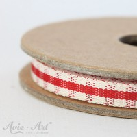 Webband Rustic Gingham - rot