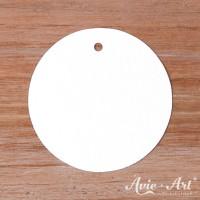 Papieranhänger rund weiß 50 mm mit glattem Rand