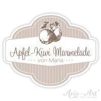 Marmeladenaufkleber mit Wunschtext - Apfel