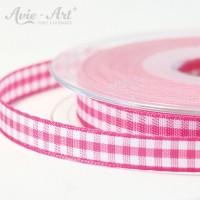 pink farbenes Karoband 10 mm