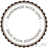 Motivstempel - handmade with love - #2 - Ø 40 oder Ø 50 mm