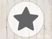 kleiner Motivstempel mit Stern - Sternenmotiv