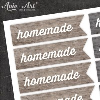 Motivaufkleber - wood homemade