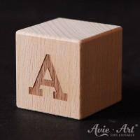 Holzwürfel Buchstabe A