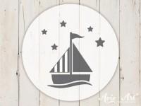 kleiner Motivstempel mit Segelboot - Kindermotiv