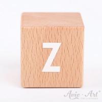 Holzwürfel Buchstaben weiße Farbe Z positiv