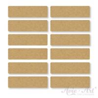 Naturpapier - Aufkleber eckig 13 x 45 mm - braun (1 Bogen)