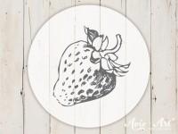 kleiner Motivstempel mit Erdbeere - Küchenmotiv
