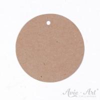 Papieranhänger rund braun 50 mm mit glattem Rand