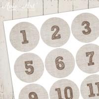 Adventskalender Zahlen Leinen #2