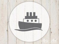 kleiner Motivstempel mit Schiff - Kindermotiv