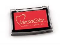 rotes Pigmentstempelkissen für die Anwendung auf unbeschichtetem Papier