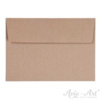 25 Briefumschläge Naturpapier - 114 x 162 mm (DIN C6)