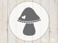 kleiner Motivstempel mit Pilz - Küchenmotiv