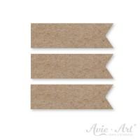 Papierfähnchen aus Naturpapier - 15 x 50mm