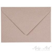25 Briefumschläge Naturpapier grau - 125 x 176 mm (DIN B6)