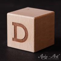 Holzwürfel Buchstabe D