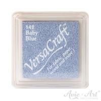 blaues Pigmentstempelkissen für die Anwendung auf unbeschichtetem Papier & Stoff