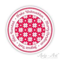 Weihnachtsaufkleber mit Norwegermuster