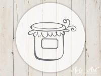 kleiner Motivstempel mit Marmeladenglas - Küchenmotiv