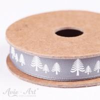 Webband festive forest - grau