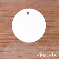 Papieranhänger rund weiß 40 mm mit glattem Rand