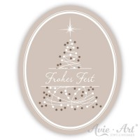 Motivaufkleber Weihnachtsbaum