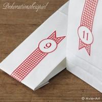 weiße Papiertüten mit Blockboden - midi