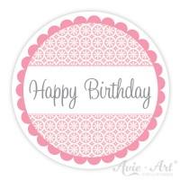 Motivaufkleber - Happy Birthday