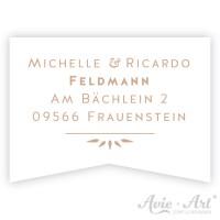 Adressaufkleber Fähnchen - Wellen II