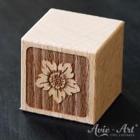 Motivwürfel Holz graviert Sonneblume