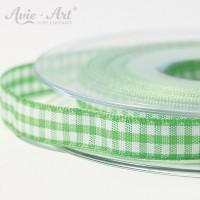 hellgrünes farbenes Karoband 10 mm