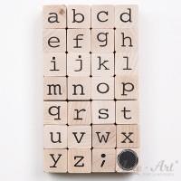 Holzstempel Alphabet - Kleinbuchstaben