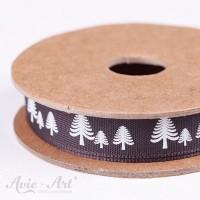 Webband festive forest - schwarz