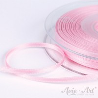 schmales Satinband rosa