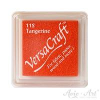 oranges Pigmentstempelkissen für die Anwendung auf unbeschichtetem Papier & Stoff