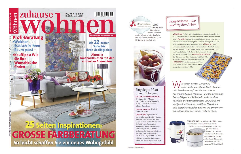 Zuhause Wohnen Zeitschrift avie in der presse avie