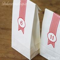 weiße Papiertüten mit Blockboden - maxi