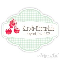 Marmeladenaufkleber mit Wunschtext - Kirsche
