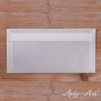 25 Briefumschläge transparent - 110 x 220 mm (DIN Lang)