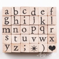 kleine Holzstempel Alphabet - Kleinbuchstaben