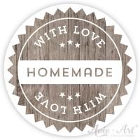 Motivaufkleber wood homemade #2