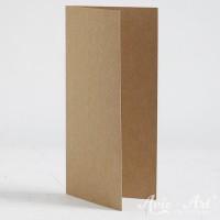 Klappkarte Naturpapier - DIN LANG (105 x 210 mm)