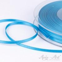 schmales Satinband blau